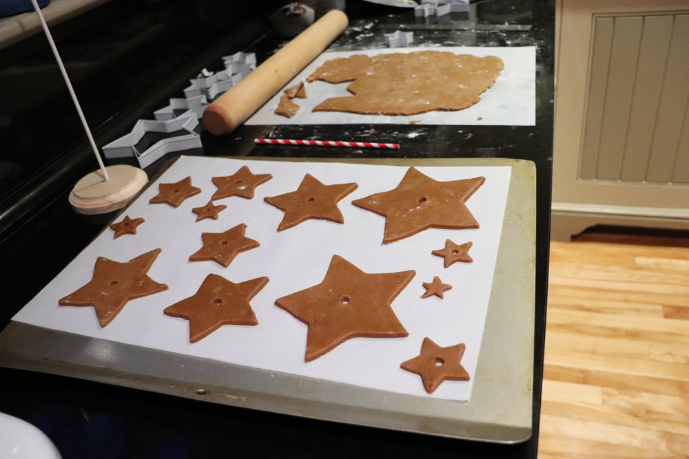 Punch holes in each star with a straw.