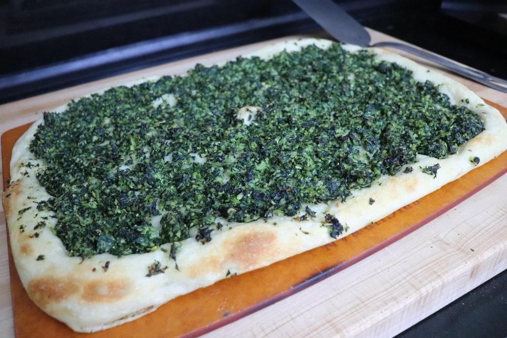 Pizza, Pan - Collard Green Pesto