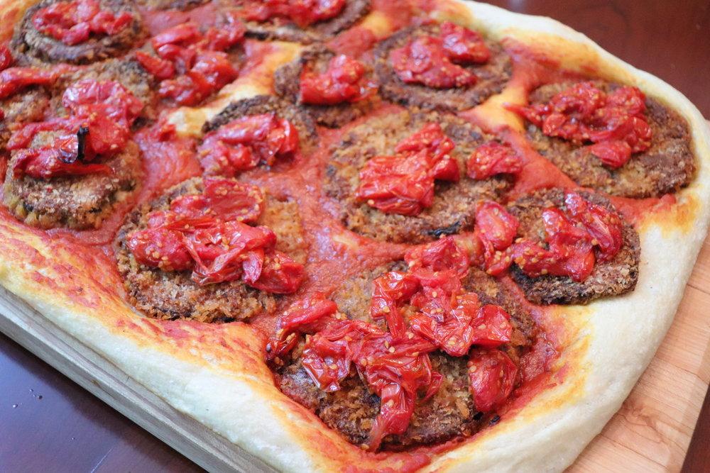 Pizza, Pan - Eggplant, Breaded