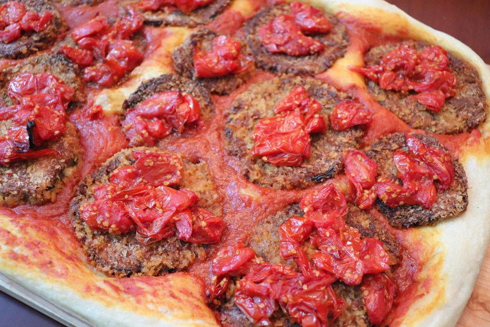 Pizza, Pan - Eggplant