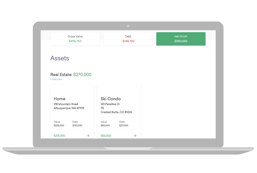Assets & Debts + Worksheets - dtour.life provides an easy to use system for documenting all the details about these assets and debts that will be needed to assist in the final distribution and settlement terms. This information flows seamlessly into the Worksheets tool allowing your legal professional to develop different Settlement scenarios.