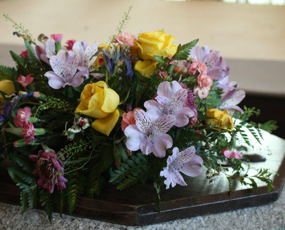 Flowers in St Budock Church