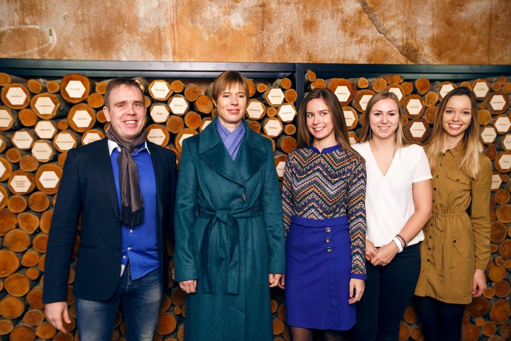 LIFT99 team with Estonian president Kersti Kaljulaid