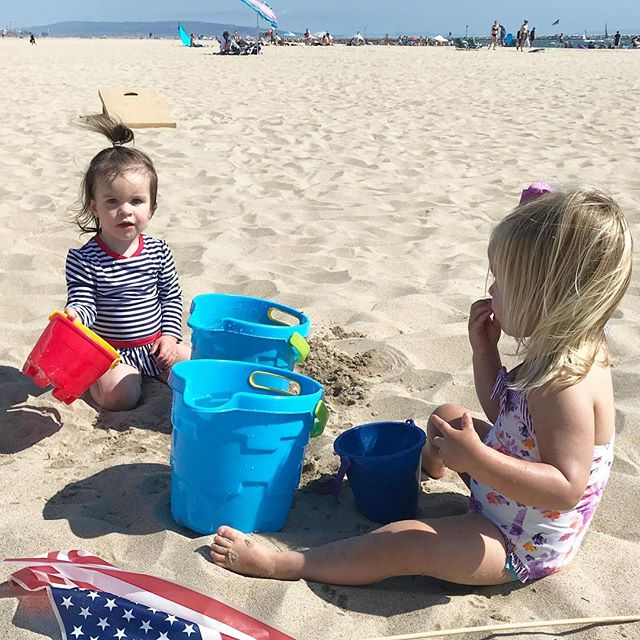recipe for harmony at the beach with toddlers: have duplicates of everything 🙄😜 #galpals #motherhood #summertime
