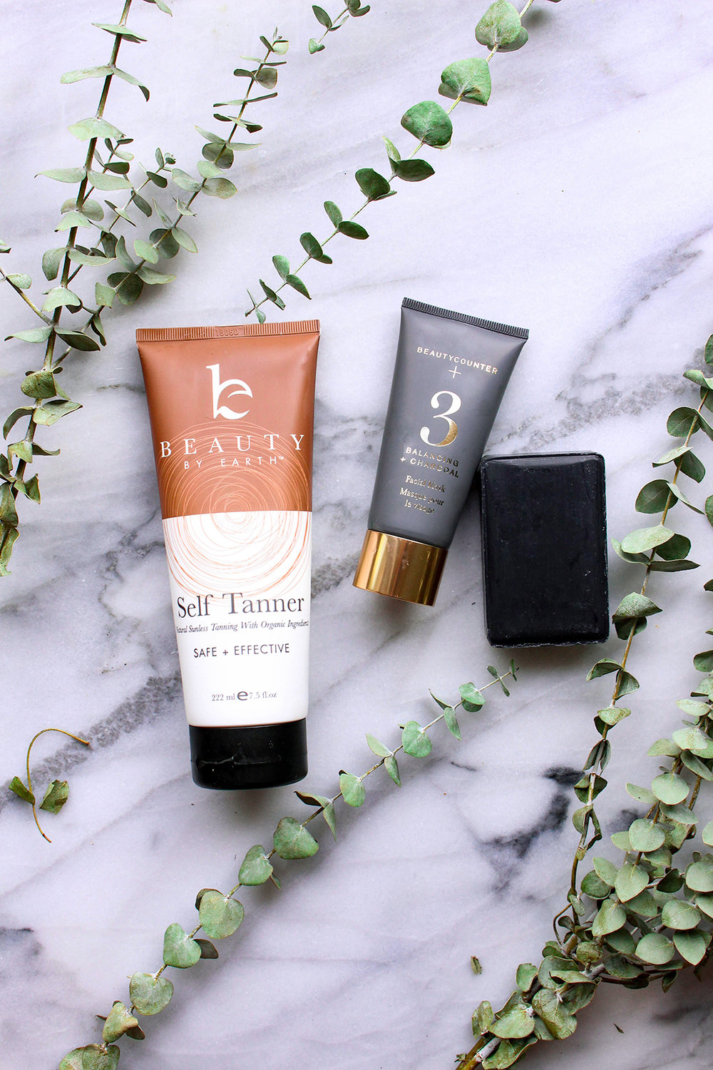 Beauty By Earth Self Tanner && Beautycounter Charcoal Bar + No. 3 Balancing Facial Mask