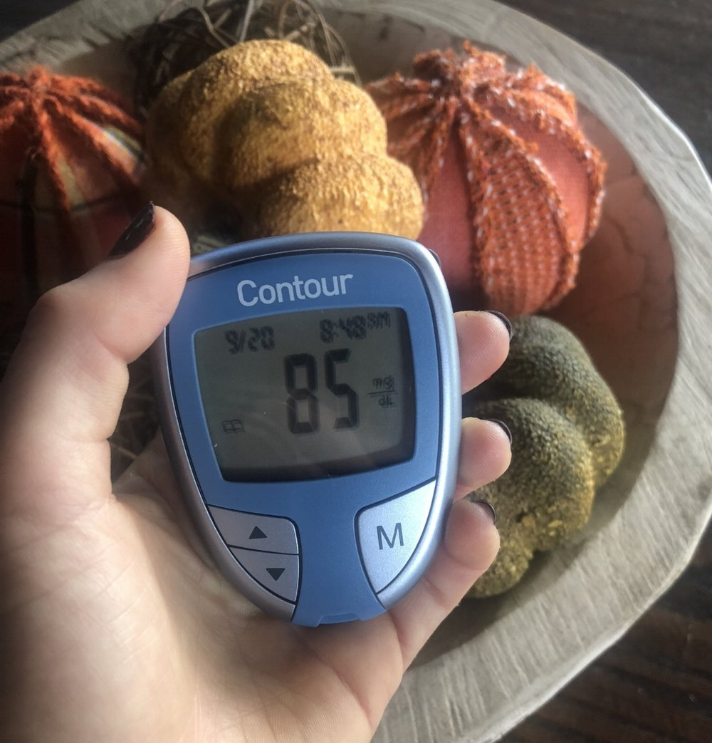 My fasting blood sugar: 85 mg/dL on September 20, 2018 using this  glucometer .