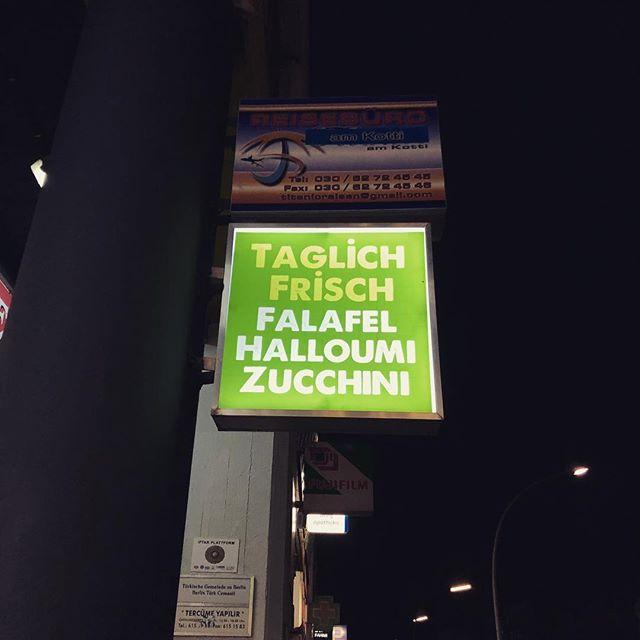 Täglich frisch. #kotti #kreuzberg #falafel #halloumi #zucchini #pannenhilfe #podcast #berlin