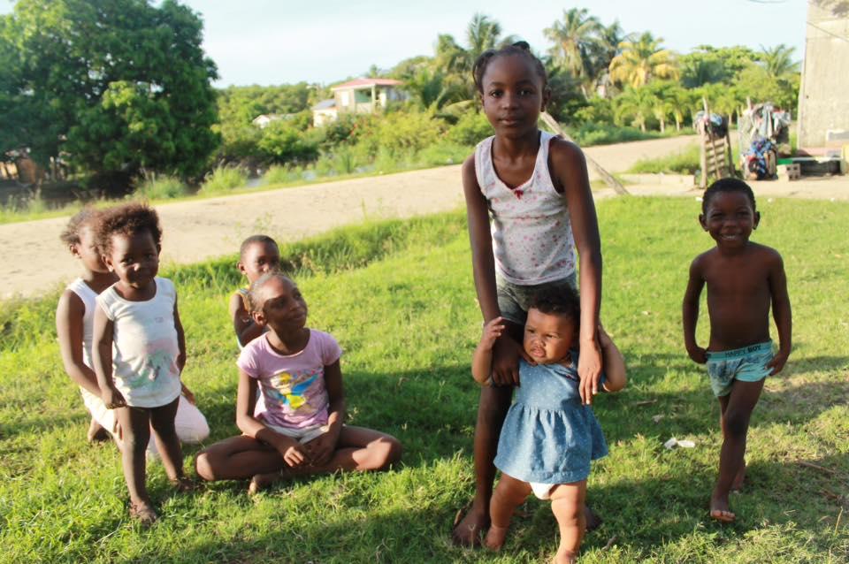 Xaria with local children in Belmopan, Guatemala 2015