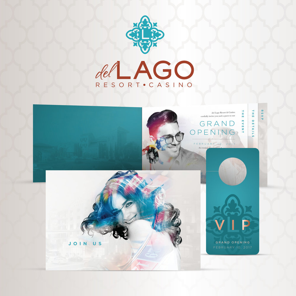del Lago Resort & Casino: Grand Opening Invite