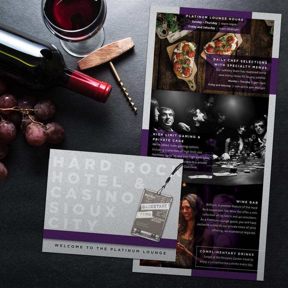 Hard Rock Hotel & Casino Sioux City: Platinum Lounge Invite