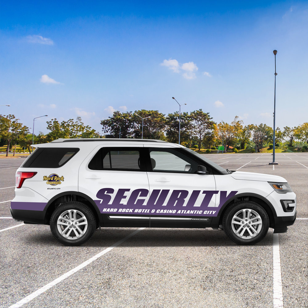 Hard Rock Hotel & Casino Atlantic City: Security Car Wrap