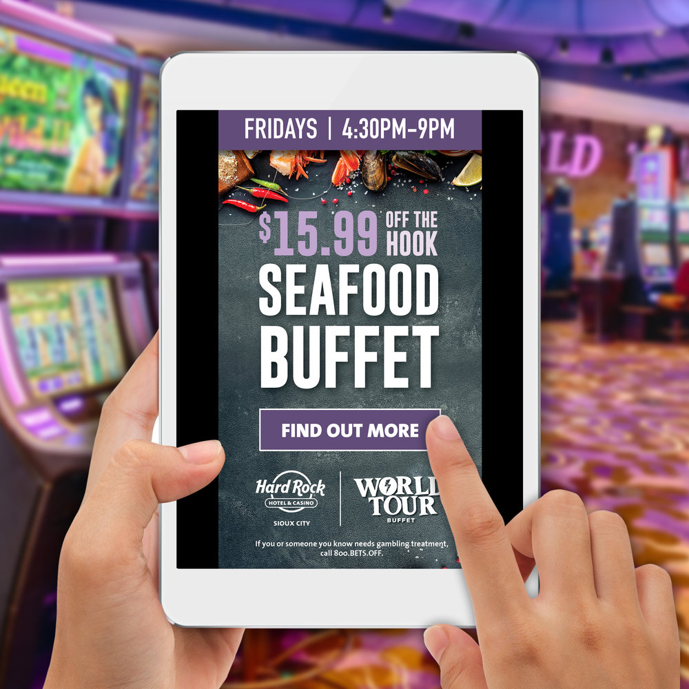 Hard Rock Hotel & Casino Sioux City: Off The Hook Digital Campaign