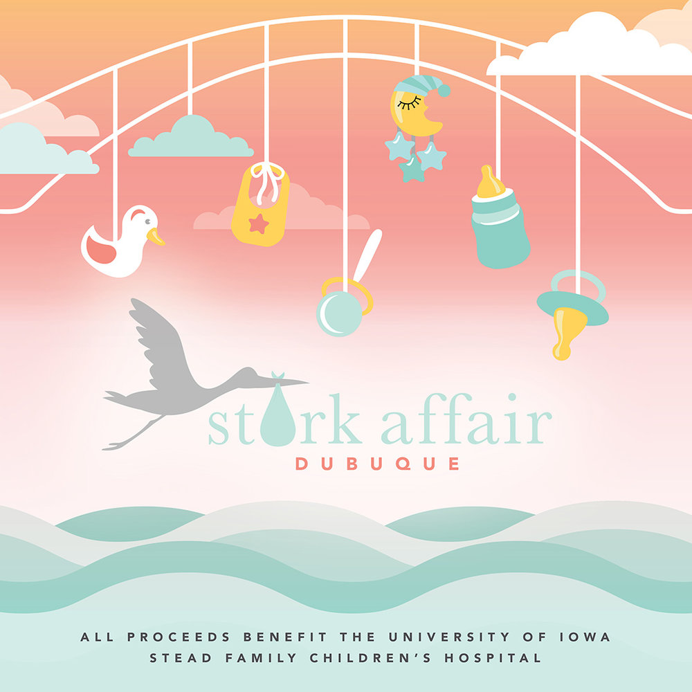 Dubuque Stork Affair: Logo Design