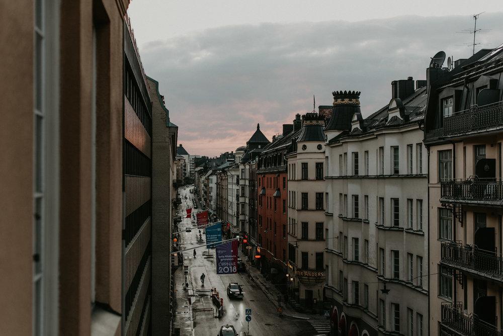 Stockholm, sweden at sunset