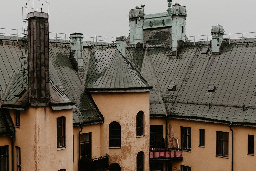 Rooftops of stockholm Sweden
