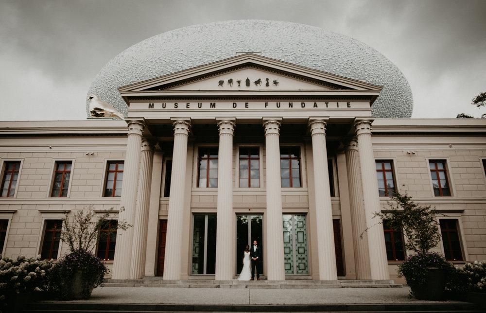 Romantic Dutch-Ghanaian Wedding in Zwolle at museum De fundatie