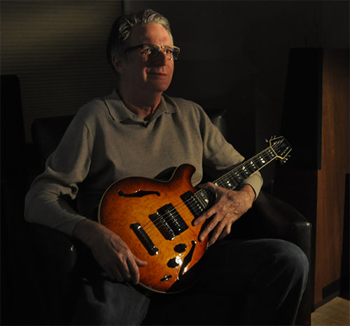 Rick Milam with a prized guitar.