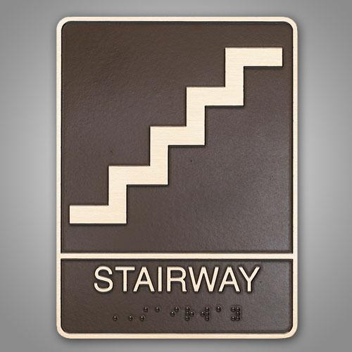 "8-1/2"" X 7"" X 1/4""  ADA Compliant Stairwell Identification"