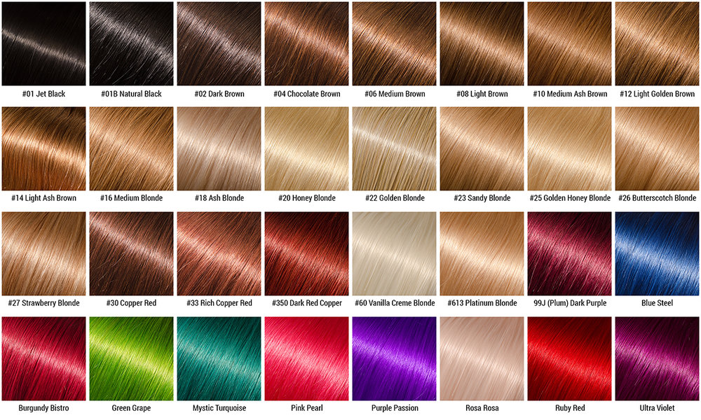 Hair Colour Chart Belle Vous Hair