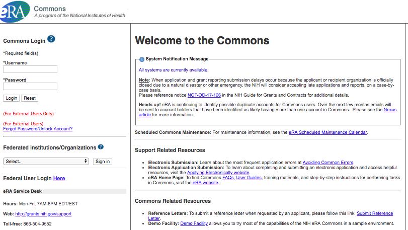 NIH Commons — U S  Open Data Toolkit