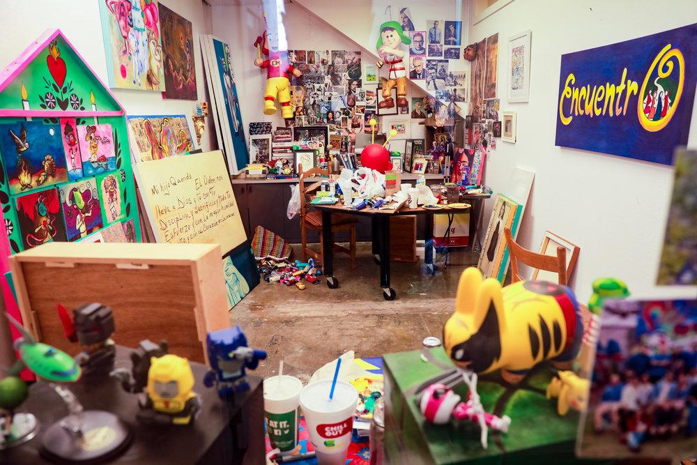 Hector Garza's Studio