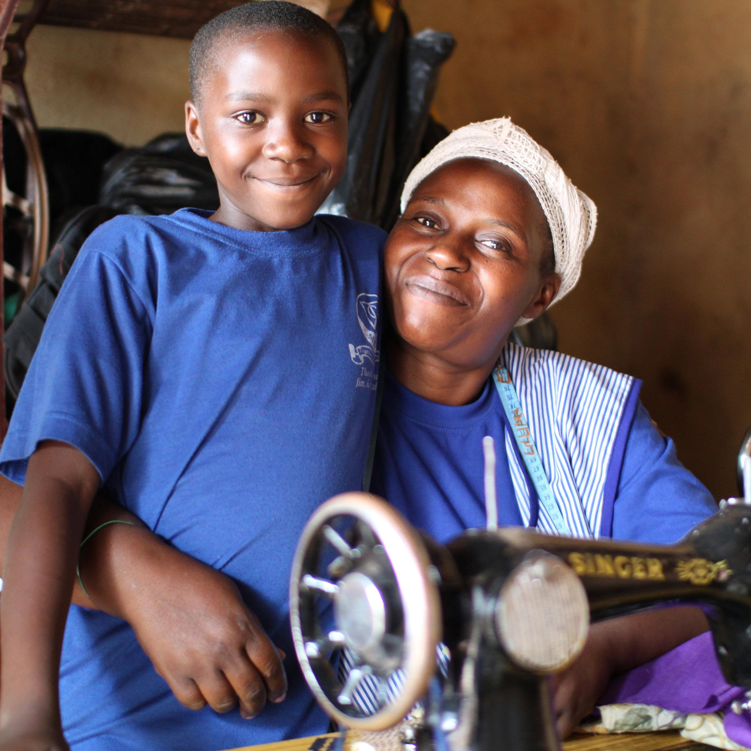 Winnie & her mum Fatuma