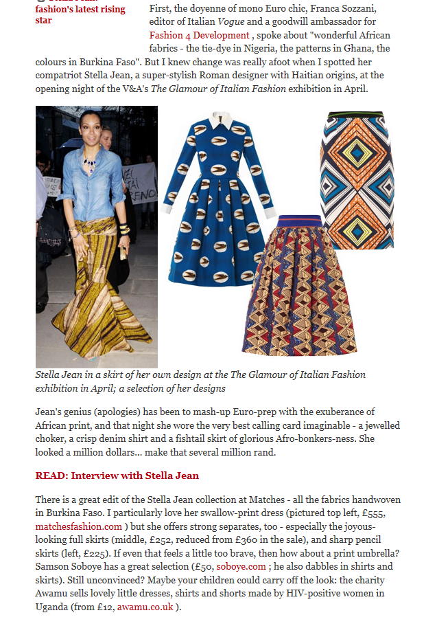 Daily Telegraph fashion africa awamu