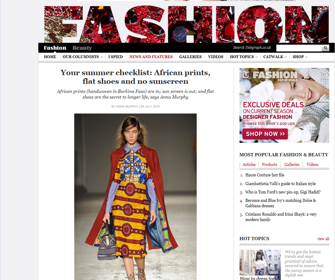 awamu Daily Telegraph Fashion African