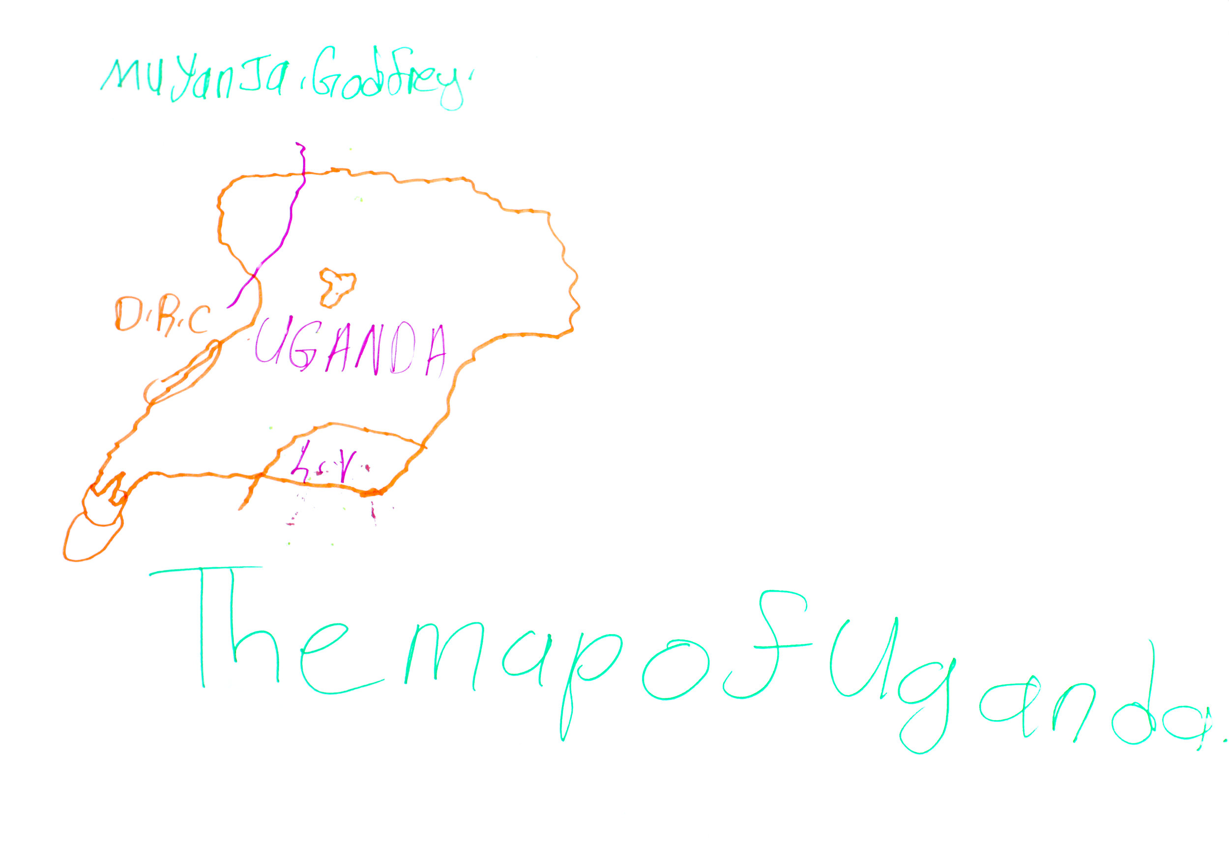 map of uganda by godfrey awamu.co.uk