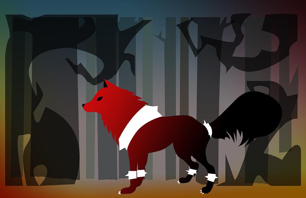 Chantal-Benitez-Character-Design-Illustration-Demon-Wolf-Ruby