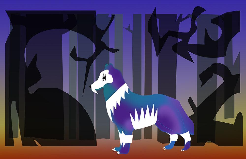 Chantal-Benitez-Character-Design-Illustration-Demon-Wolf-Vincent
