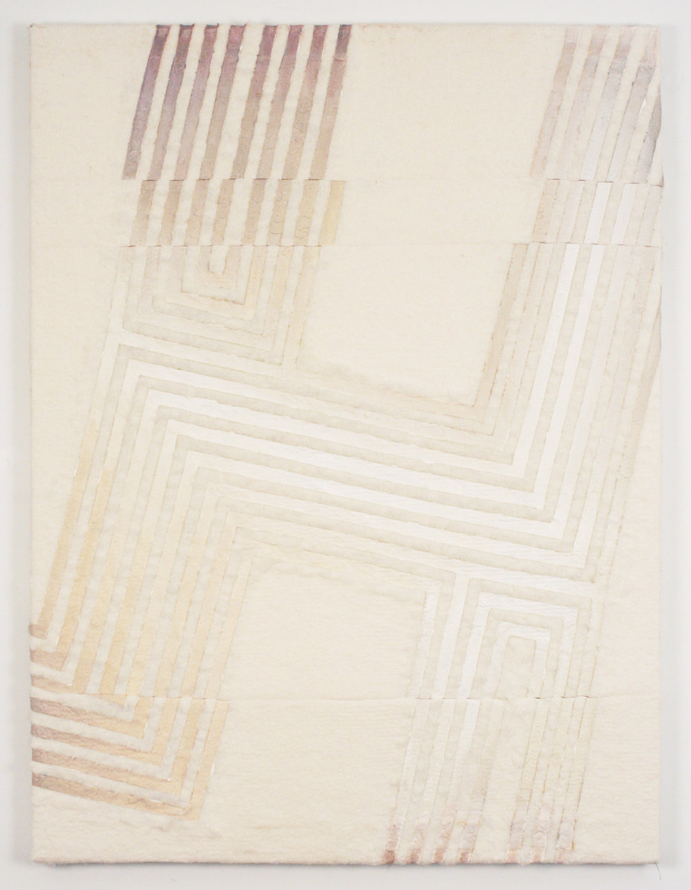 H (hedonism)  2016 oil on stitched cotton batting 48 in x 36 in