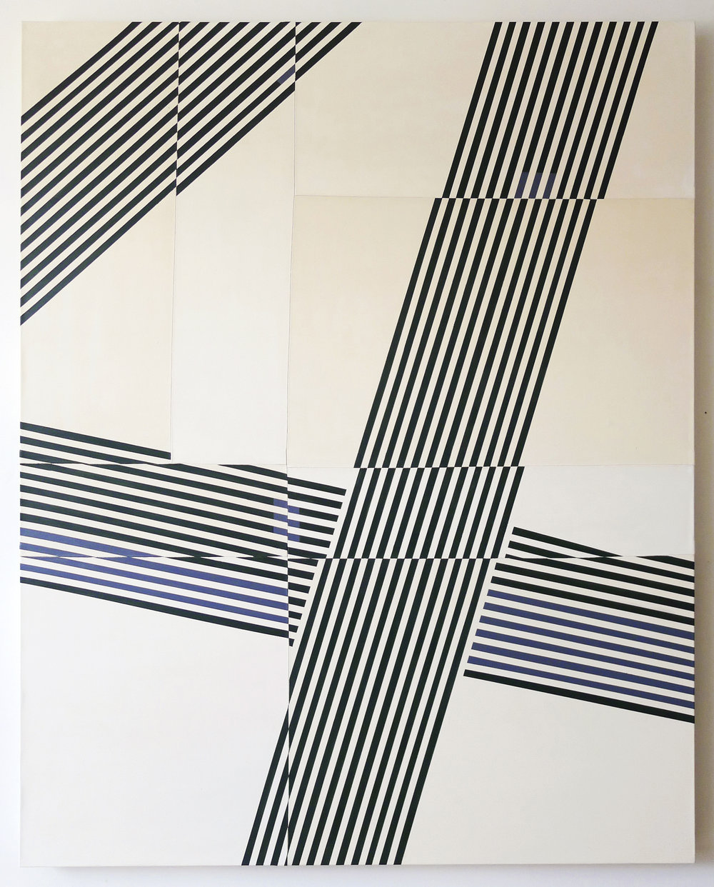 jaywalker  2014 oil on stitched cotton twill 60 in x 48 in