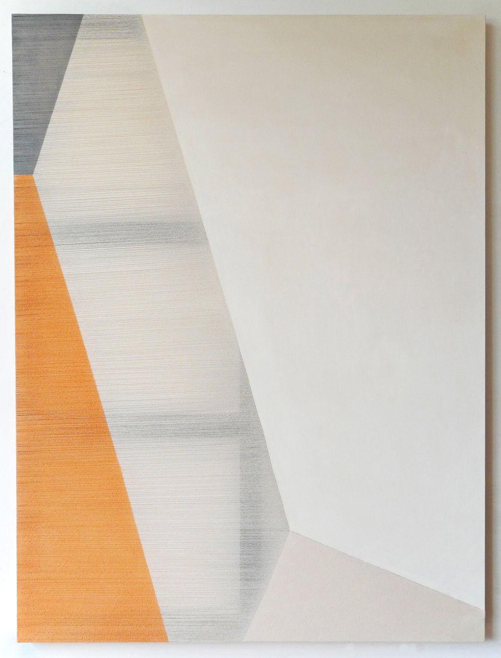 myth  2014 acrylic on stitched canvas 72 in x 54 in