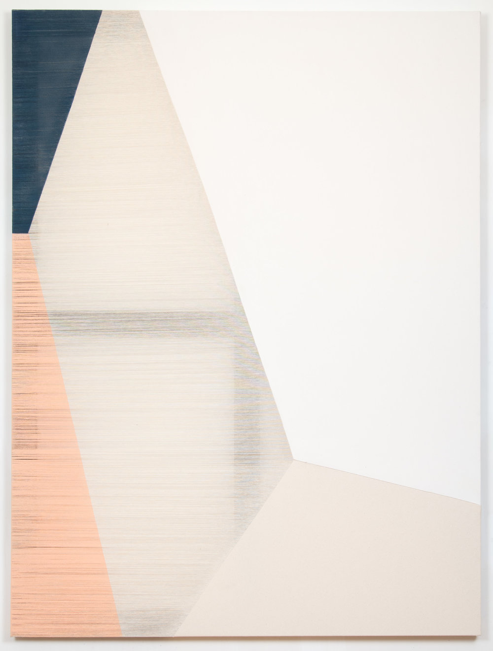 salience  2014 acrylic on stitched canvas 60 in x 45 in