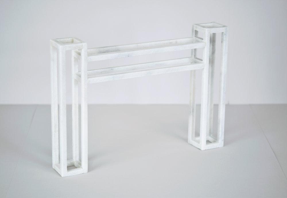 futurologist 2017  marble 14 in x 2 in x 9.75 in