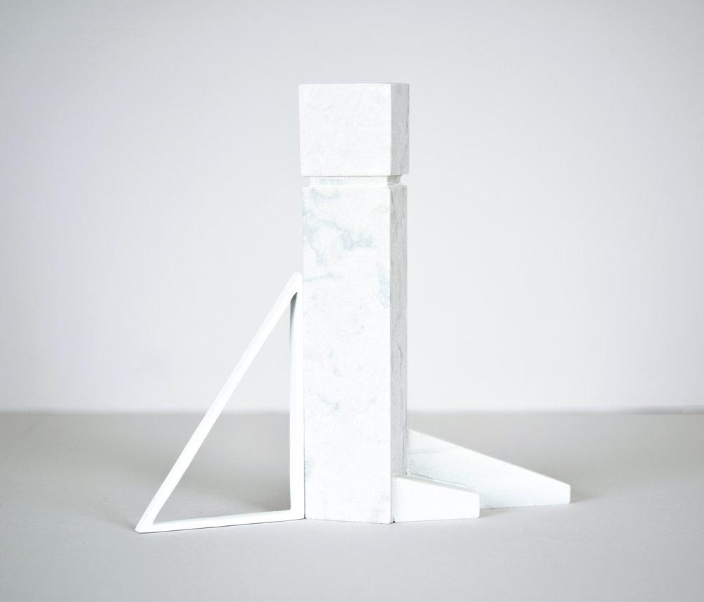 modern day monoliths  2017 quartz, marble, cast plaster 8.5 in x 2.5 in x 9 in
