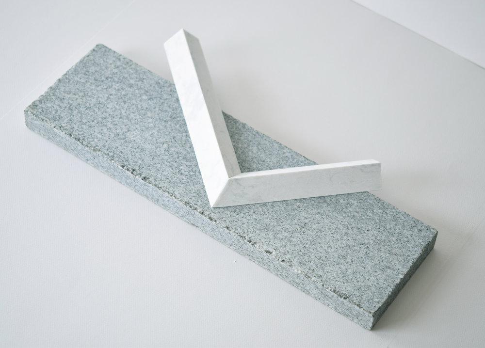 morpheme   2017 quartz, granite 17.75 in x 2.5 in x 8 in
