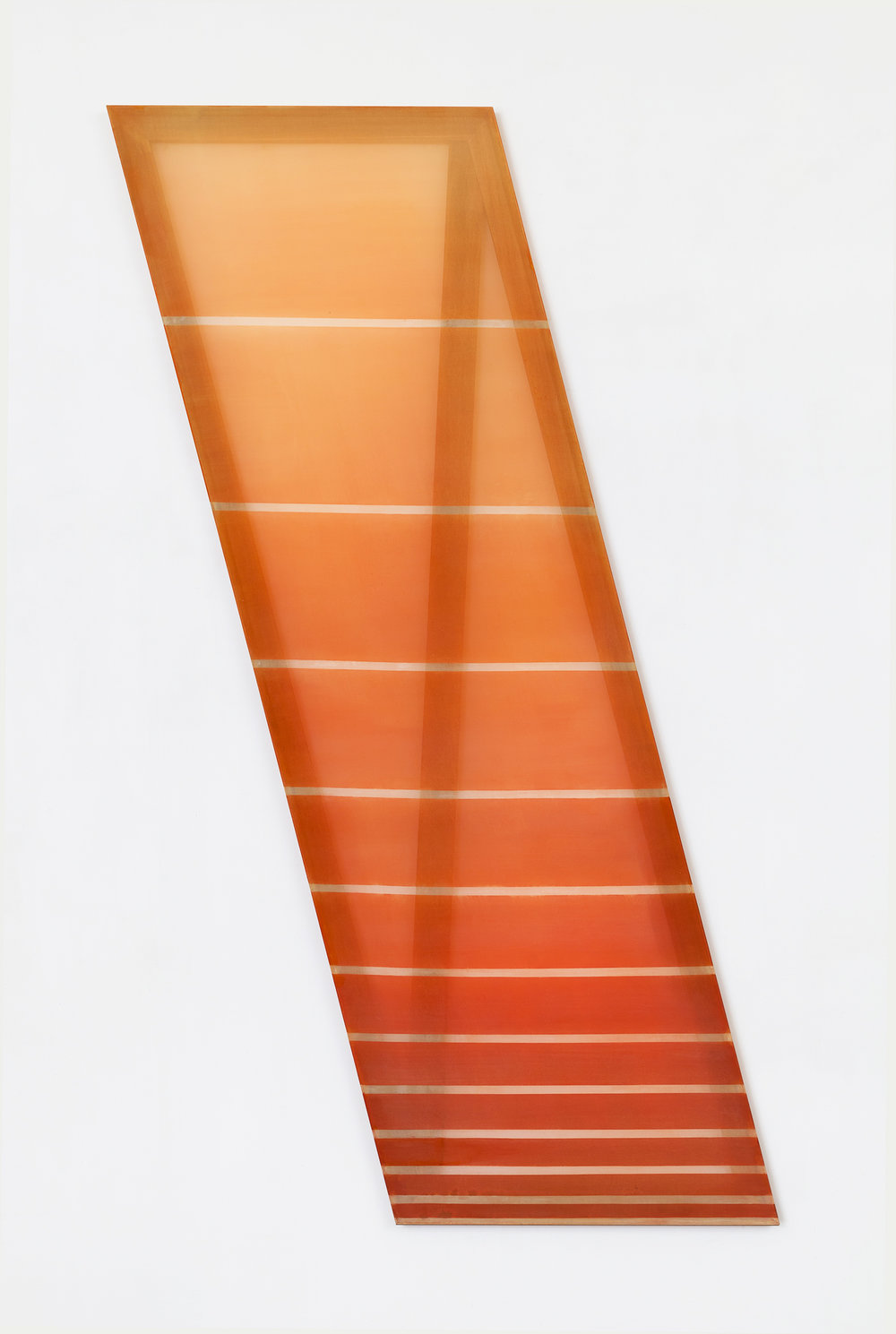 \  (sunset)  2015 acrylic, and dye on silk 80 in x 20 in