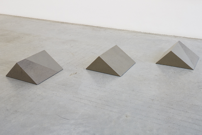 hippopotami  2015 grey fog and greece grey stone 3 pieces, each: 28 x 48 x 48 x 34.45 cm, dimensions variable