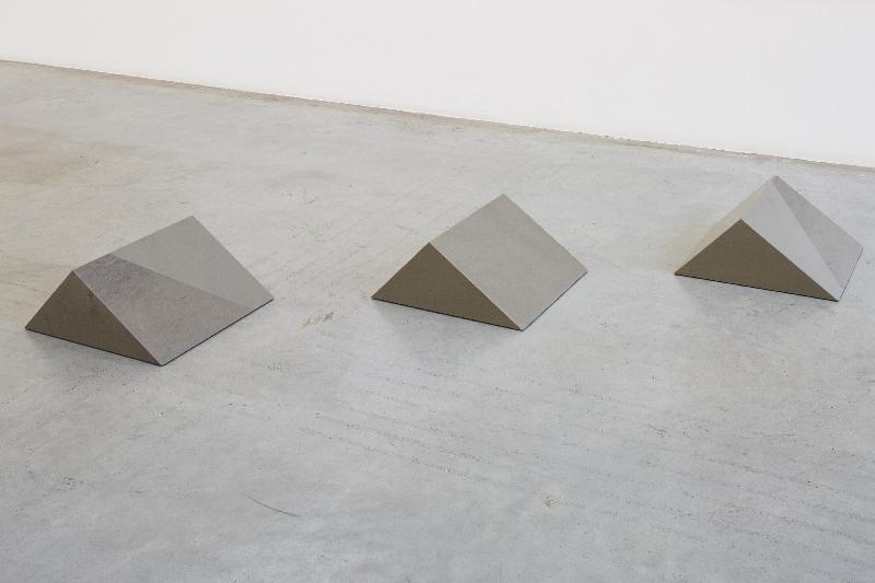 hippopotami  2015 grey fog and greece grey stone 3 pieces, each: 28 x 48 x 48 x 34.45 cm, dimensions variable