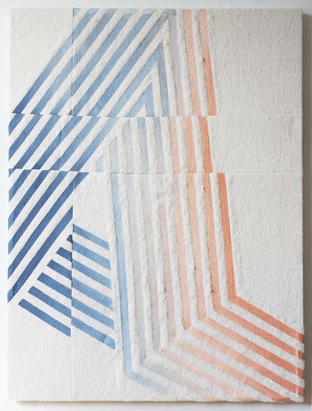 A (goading)  2015 oil on stitched cotton batting 48 in x 36 in