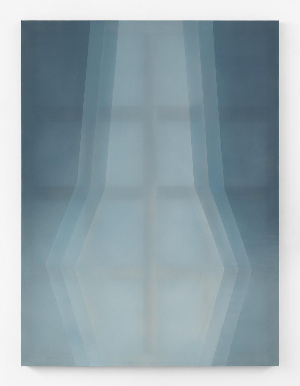 ((( )))  acrylic on silk 60 in x 45 in 2018