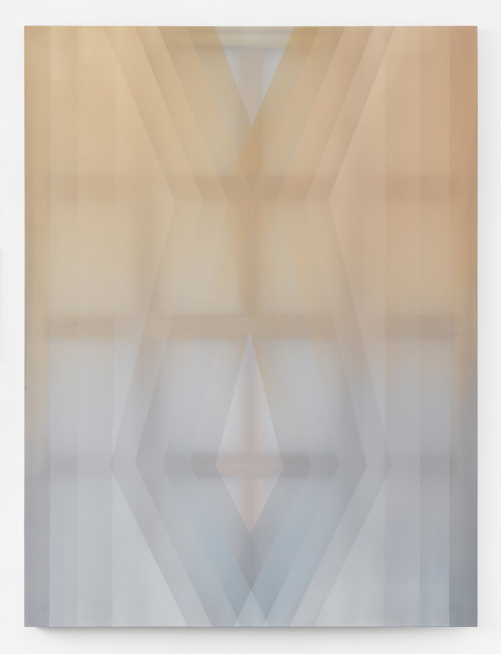 anodyne  acrylic on silk 60 in x 45 in 2018