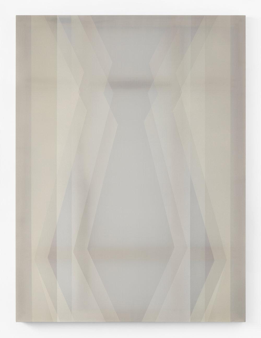 betrothen  acrylic on silk 60 in x 45 in 2018