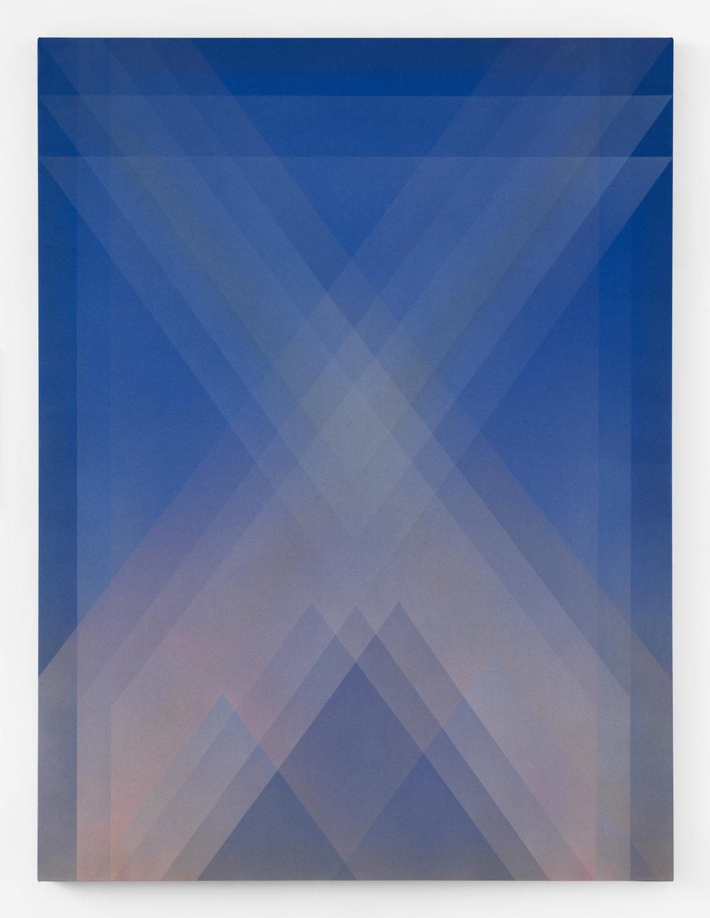 fever dream  acrylic on silk 60 in x 45 in 2018