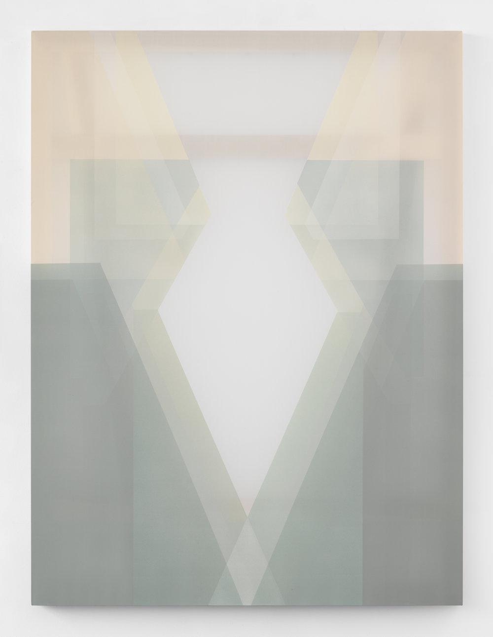 fountain  acrylic on silk 60 in x 45 in 2018