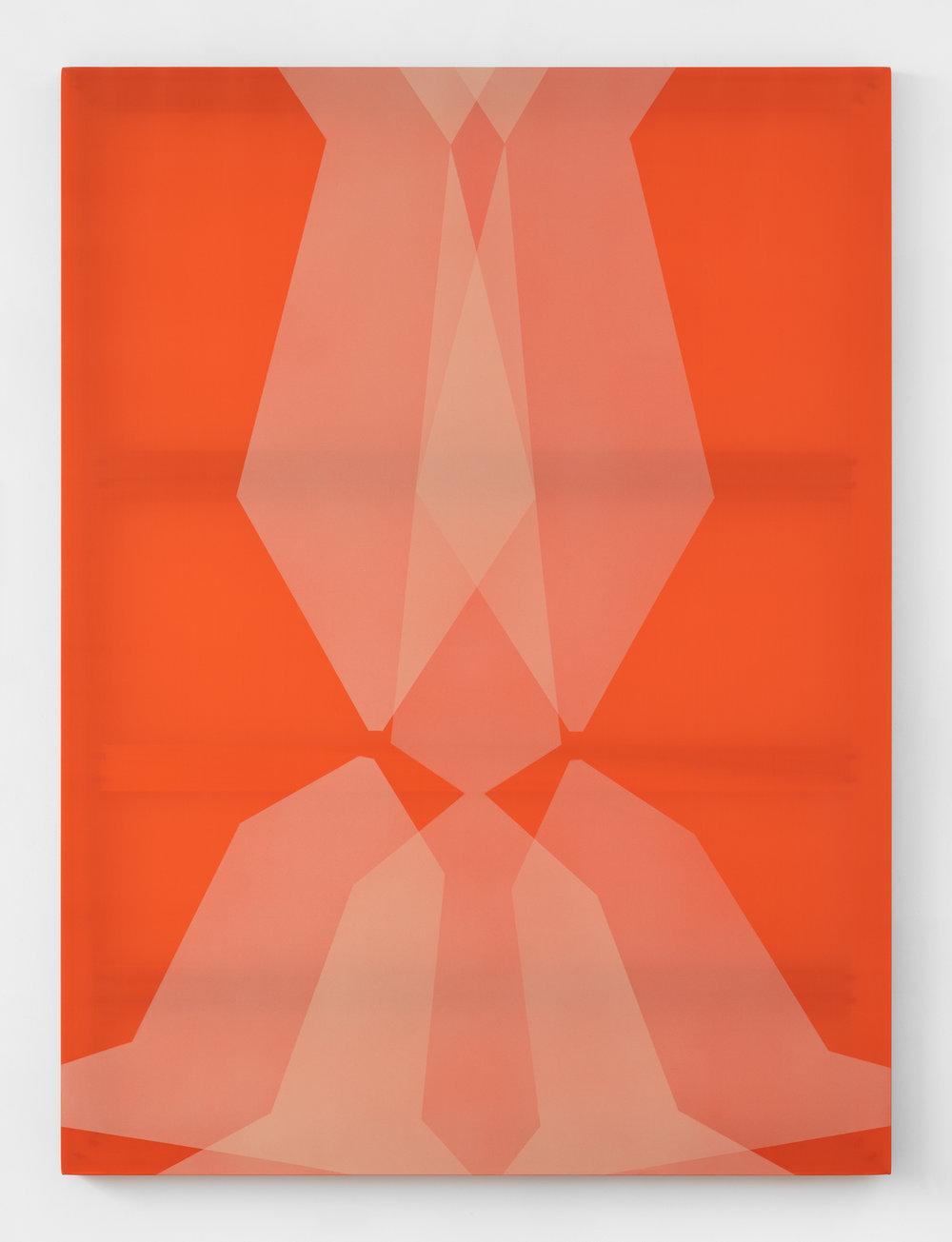 full swing  acrylic on silk 60 in x 45 in 2018