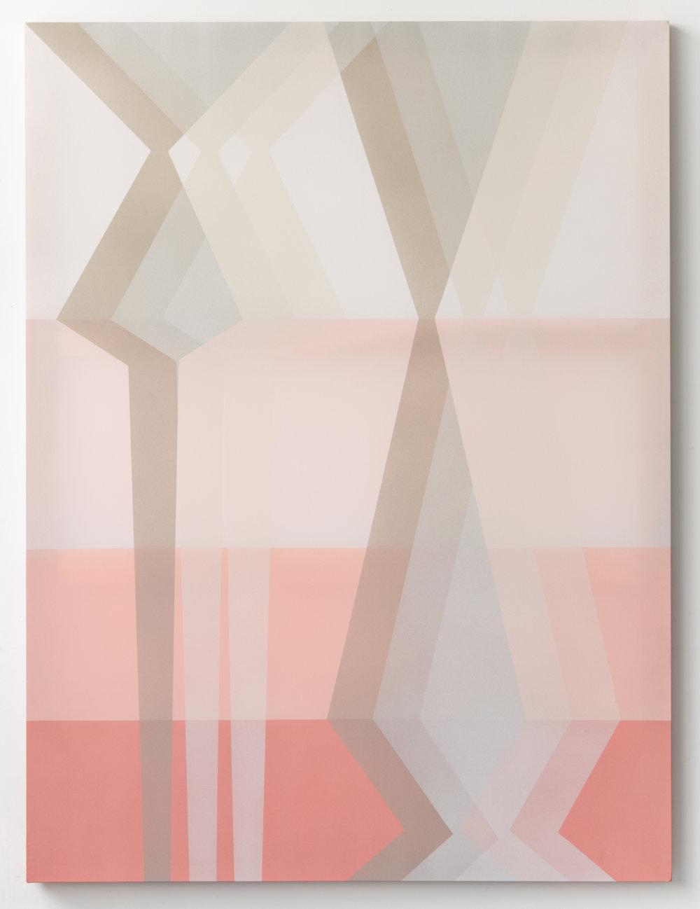 archetype  2019 acrylic on silk 60 x 45 in