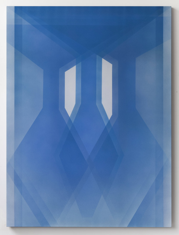 apparition 2019 acrylic on silk 60 x 45 in